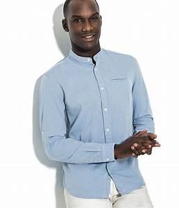 Chemise Col Mao Jules : chemise homme col mao bleu coupe slim jules coup de coeur mode ~ Farleysfitness.com Idées de Décoration
