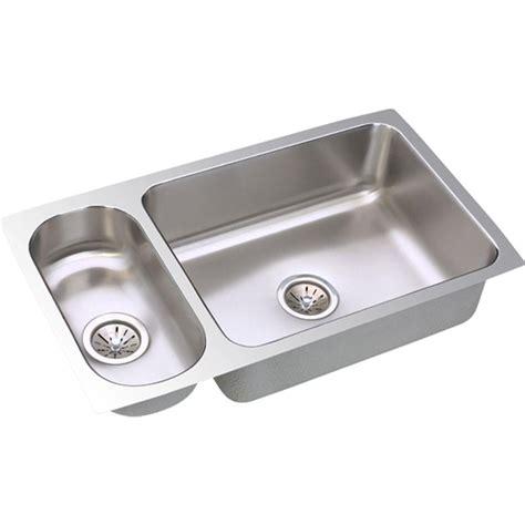 elkay stainless steel kitchen sink elkay lustertone undermount stainless steel 32 in 8865