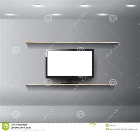 d馗o mur chambre vecteur tv sur le mur dans la chambre moderne photos stock image 29375823