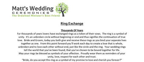wedding ring exchange vows image of wedding ring enta