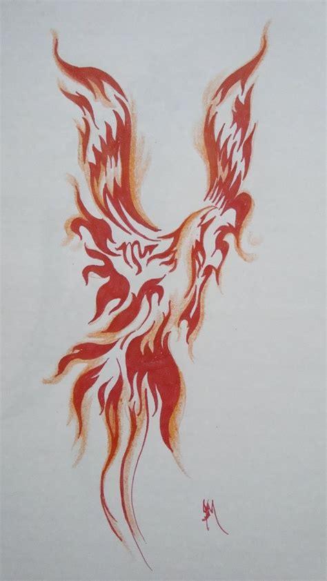 red phoenix tattoo images  pinterest phoenix