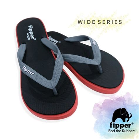 jual sandal fipper wide series original for black di