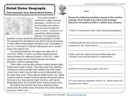 free 3rd grade geography worksheets worksheets for all
