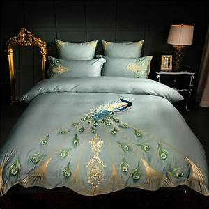 Chinese, Embroidery, Luxury, Bedding, Set, Queen, King, Size