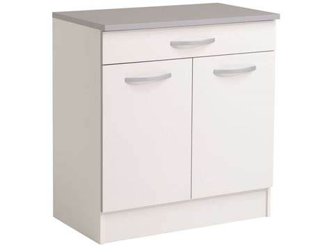 meuble cuisine bas 2 portes 2 tiroirs meuble bas 80 cm 2 portes 1 tiroir spoon coloris blanc