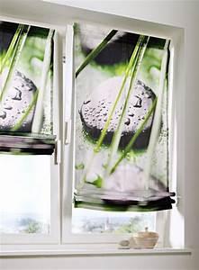 Rollos Für Badezimmer : 1 st raffrollo rollo 120 x 140 wei gr n digitaldruck blickdicht klettband neu ebay ~ Markanthonyermac.com Haus und Dekorationen