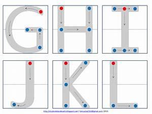 Abecedario para remarcar con puntos de unión y flechas
