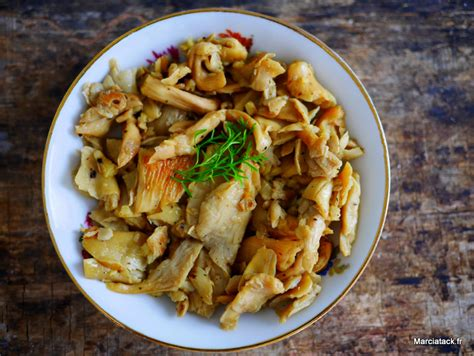 cuisiner les pleurottes recette de pleurotes à l 39 ail marciatack fr
