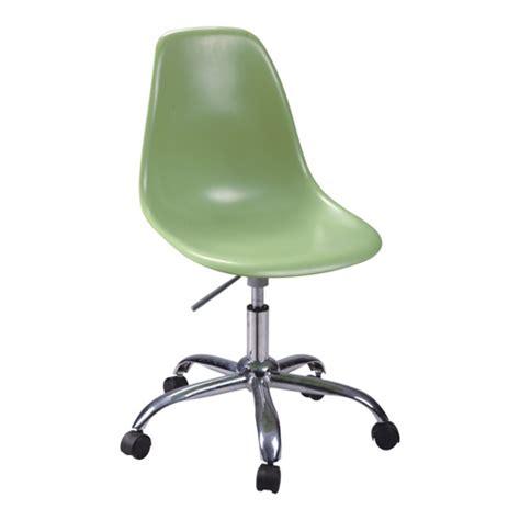 best green plastic seat wheels base office desk chairs