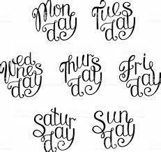 handwritten days of the week monday tuesday wednesday With days of the week vinyl letters