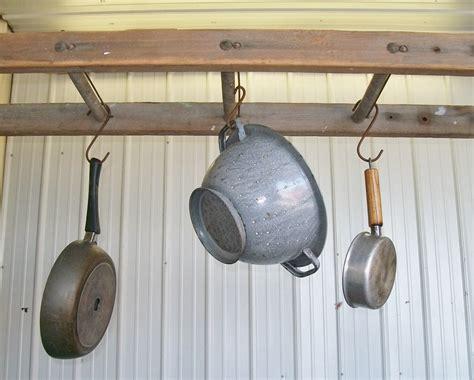 vintage wooden ladder pot racks laundry drying organizers