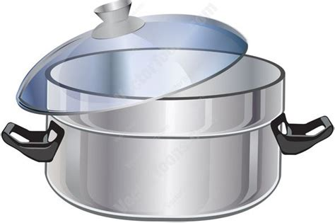 Stainless Steel Quart Stockpot With Clear Lid And Black