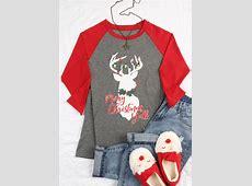 Merry Christmas Y'all Reindeer Baseball TShirt Bellelily