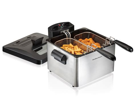 electric basket amazon beach hamilton oil professional liter fryer deep chicken capacity fryers fish silver fry indoor whole rated cook