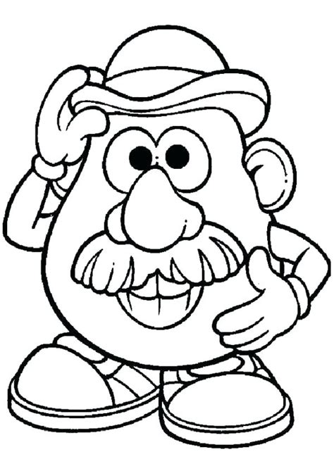 potato head printable coloring pages  getcolorings