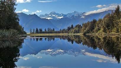 Zealand Lake Matheson Nz Stuff Famous Related