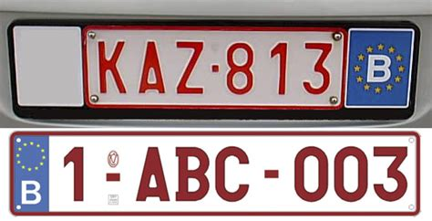 Vehicle Registration Plates Of Belgium