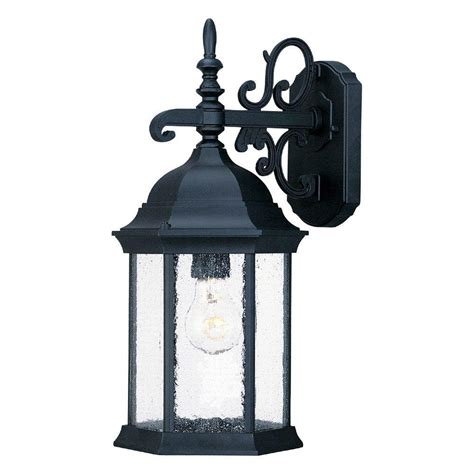 outside lights at home depot acclaim lighting naples collection 3 light matte black