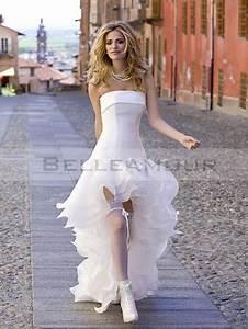 Robe Courte Mariée : robe de mariee courte devant ~ Melissatoandfro.com Idées de Décoration
