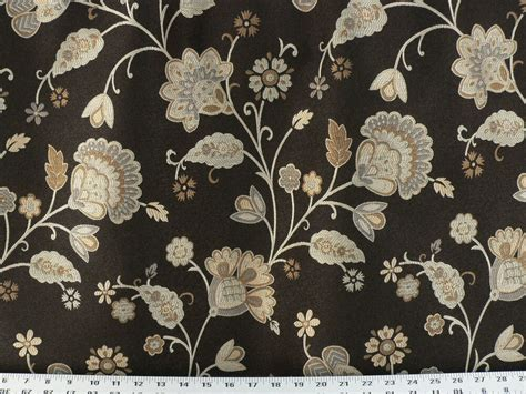Floral Drapery Fabric by Drapery Upholstery Fabric Damask Reversible Jacobean