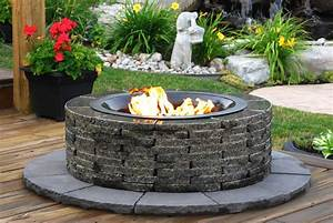 Stay, Warm, And, Cozy, With, A, Realstone, Granite, Fire, Pit