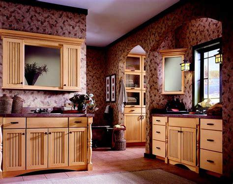 wallpaper backsplash for kitchen birch hazelnut glaze bathroom cabinetry by kraftmaid 6967