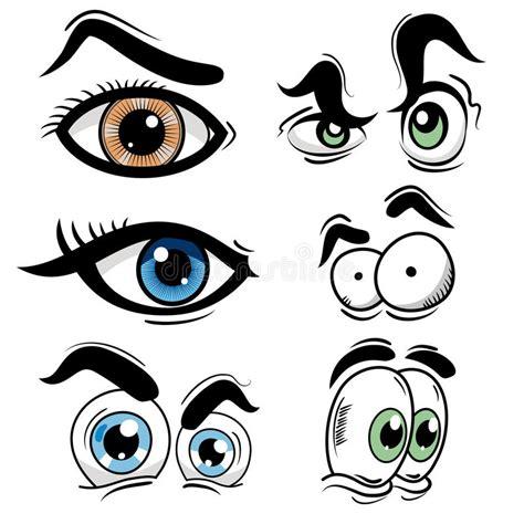 cartoon eye set stock vector illustration  green