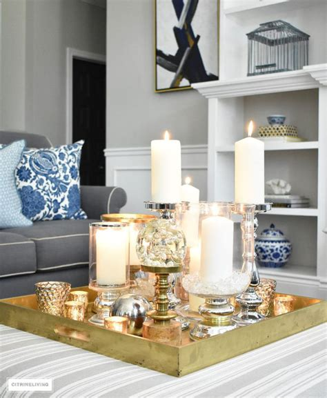 These fancy coffee tables are offered in various shapes and sizes ranging from trendy to classic ones. STYLE A COFFEE TABLE OR OTTOMAN 3 WAYS   Christmas coffee table decor, Coffee table decor tray ...