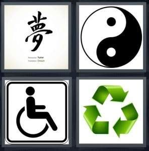 4pics1word 6 letters 4 pics 1 word answer for harmony handicapped 20212 | symbol 296x300