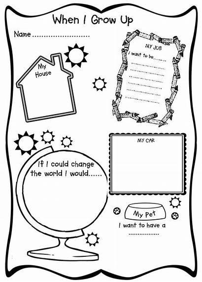 Grow Preschool Career Worksheet Activities Printable Template