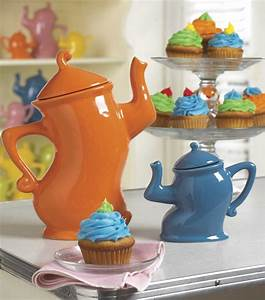 These teapots have all the moves! The colors work with the