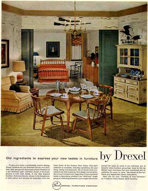 50s Retro Bathroom Decor by 1959 Vintage Drexel Colonial Lives Even Heading Into The