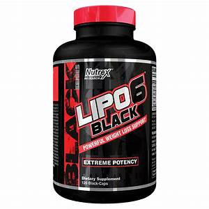 Nutrex Research Lipo-6 Black Metabolism Booster  U0026 Fat Burner  120 Ct