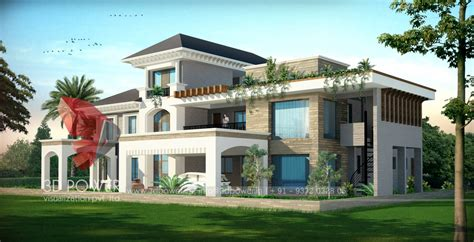 bungalow design township apartments design 3d rendering modern
