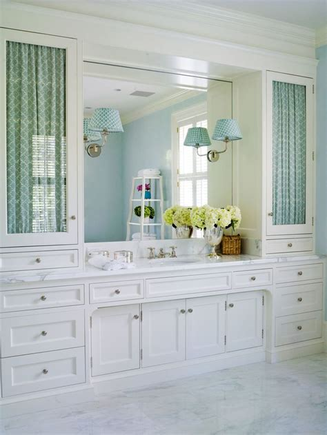 Built In Vanity Cabinets For Bathrooms by Bathroom Fabric Glass Doors Thornton