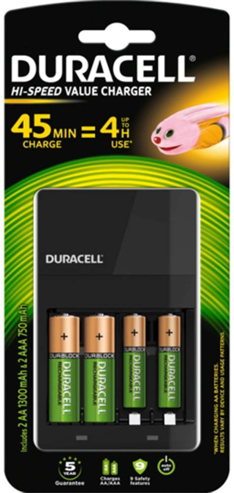 duracell  speed  charger ladegeraet cef mit   aa