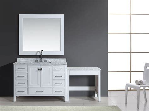 """Are there any special values on bathroom vanities? 48"""" London Single Sink Vanity Set in White Finish with One ..."""