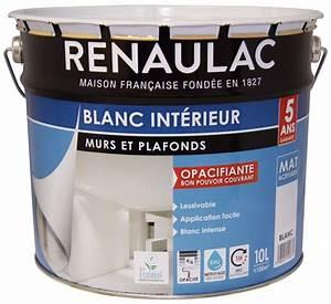 Peinture Pour Plafond : peinture blanche mur et plafond 1 supercreme ripolin satin ~ Melissatoandfro.com Idées de Décoration