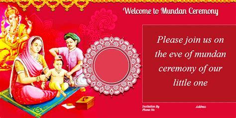 mundan ceremony invitation quotes card design