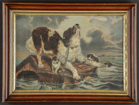 Dramatic Painting Of A Dog Trapped In A Flood