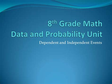 8th Grade Math Dependent And Independent