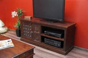 Sideboards Kolonialstil : indisches tv sideboard aus massivholz im kolonialstil ~ Pilothousefishingboats.com Haus und Dekorationen