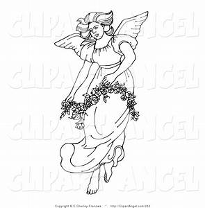 Illustration Vector of a Black and White Beautiful Winged ...