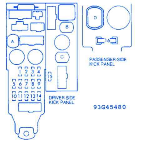 91 Toyotum Camry Fuse Diagram by Toyota Camry 4 Cyl 1991 Fuse Box Block Circuit Breaker