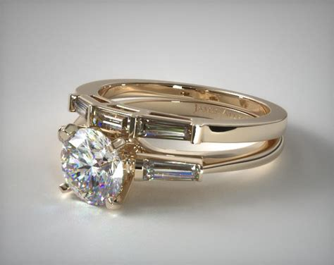 tapered baguette wedding 18k yellow gold 1715014201y