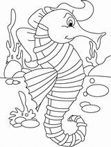 Coloring Seahorse Printable Horse Template Sea Drawing Mandala Templates Colouring Cartoon Shape Animal Topknot Stylish Simple Sheets Crafts Everfreecoloring Ocean sketch template