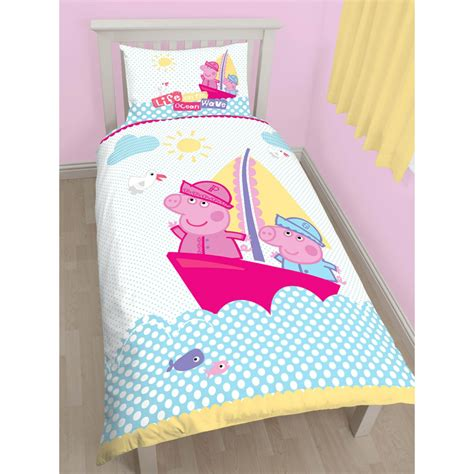 Peppa Pig Bedroom Makeover Kit by Peppa Pig Nautical Single Duvet Cover And Pillowcase Set
