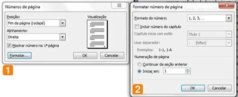 como numerar e não numerar as paginas no tcc monograf como numerar páginas no word de forma automática melhor