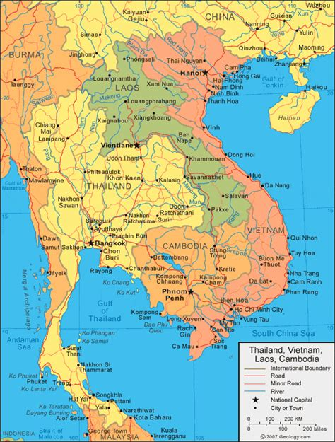 Laos Map and Satellite Image