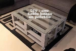 Faire Une Table Basse En Palette : idees de comment faire une table basse avec des palettes ~ Dode.kayakingforconservation.com Idées de Décoration